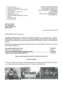 Urkunde und Infos Friedenslauf 20182