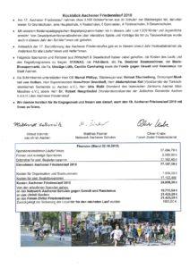 Urkunde und Infos Friedenslauf 20183